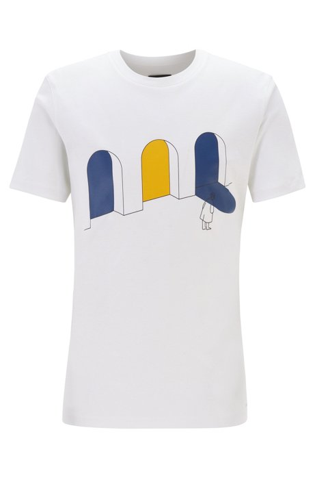 Limited Edition Konstantin Grcic T-shirt with city artwork, White