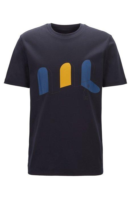 Limited Edition T-Shirt mit urbanem Artwork aus der Konstantin Grcic Capsule-Kollektion, Dunkelblau