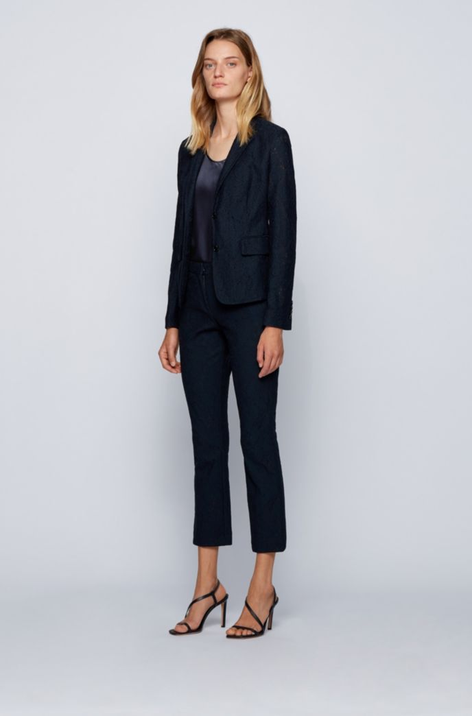 Top Regular Fit à encolure dégagée en soie stretch