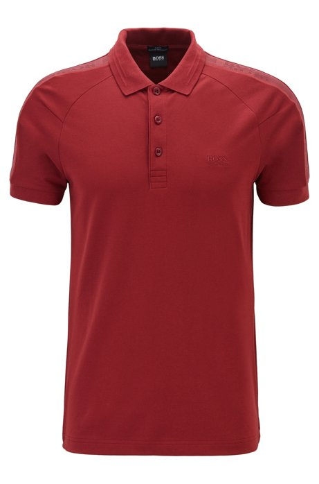 S.Café® slim-fit polo shirt with logo tape details, Red