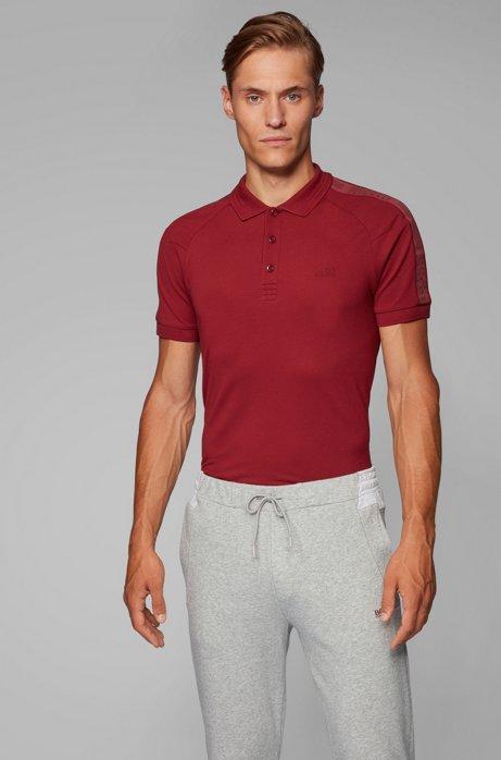 Polo Slim Fit S.Café® à rubans logo, Rouge