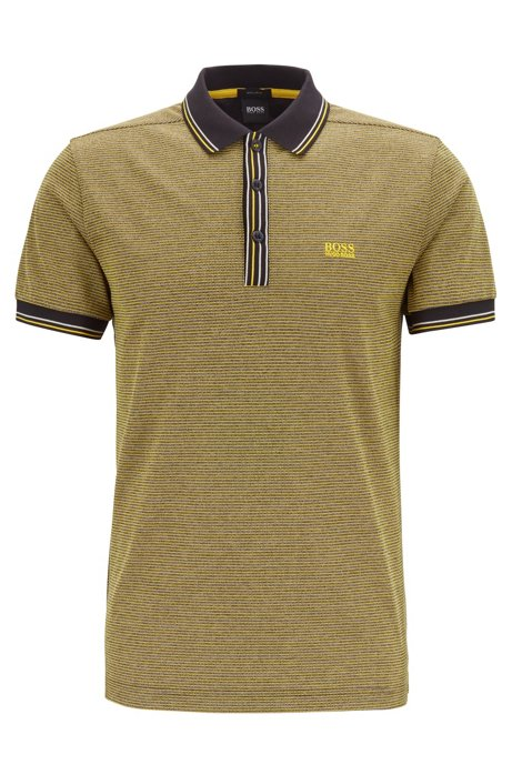 Regular-fit polo shirt in pure cotton, Yellow