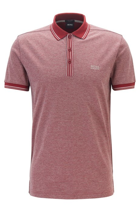 Regular-fit polo shirt in pure cotton, Red