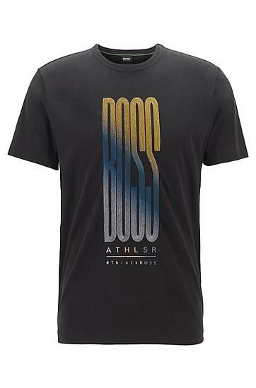 boss  T-shirt en jersey de coton à logo multicolore Regular fit Col rond... par LeGuide.com Publicité