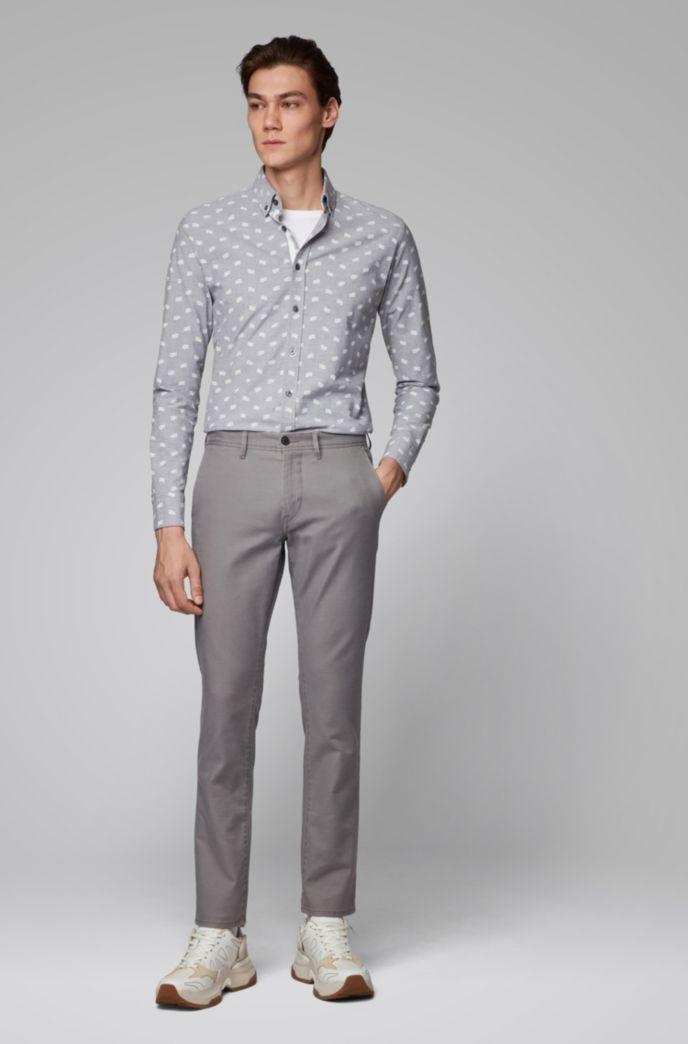Pantalon Slim Fit en twill stretch avec porte-clés