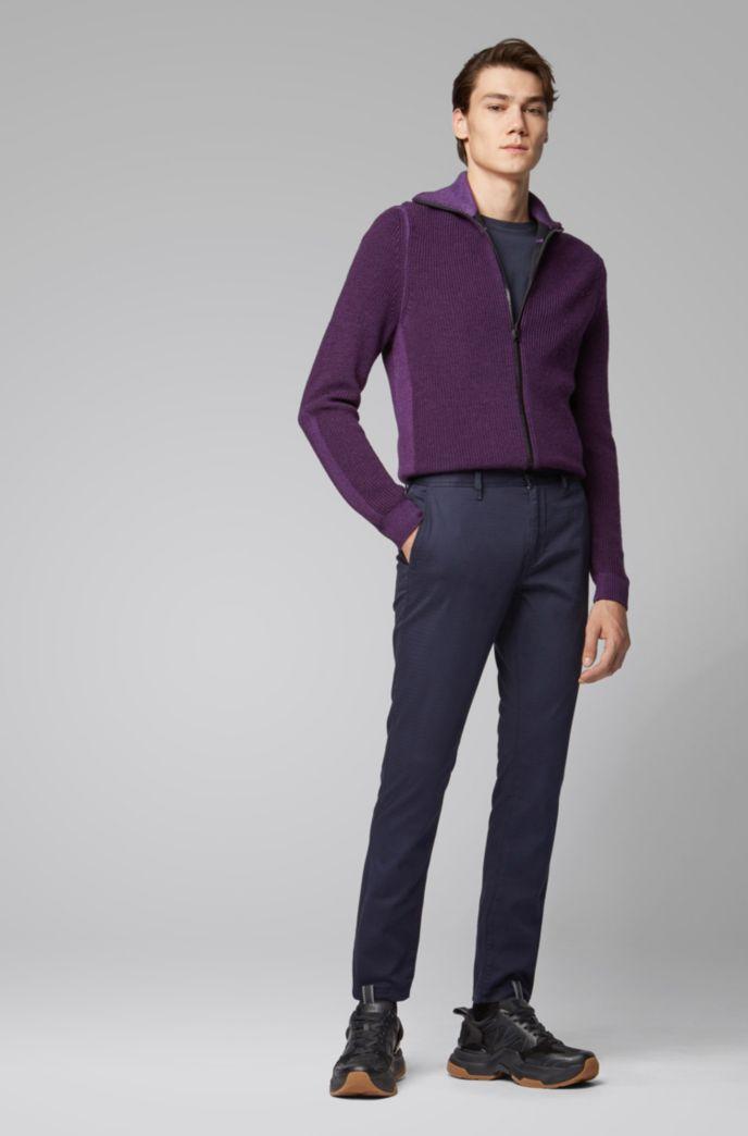 Pantalon Slim Fit en coton stretch satiné
