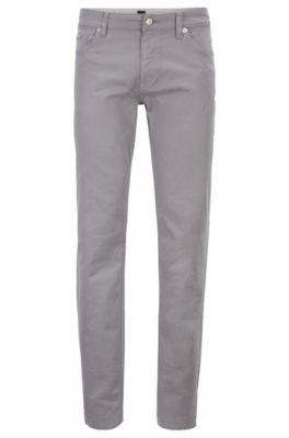 Regular-Fit Jeans aus Stretch-Denim mit Satin-Finish, Grau