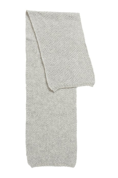 Honeycomb-knit scarf in an alpaca blend, Grey