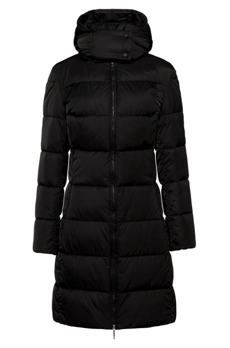 Regular-fit padded jacket in water-repellent fabric, Black