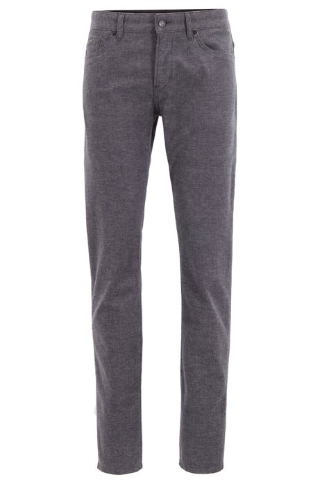 Slim-fit jeans in three-coloured stretch denim, Dark Grey