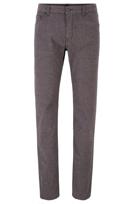 Regular-fit jeans in three-coloured stretch denim, Black