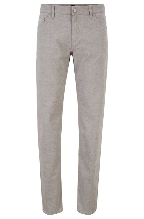 Regular-fit jeans in three-coloured stretch denim, Grey