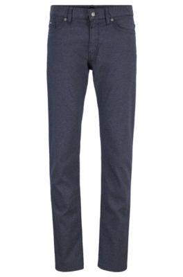 Slim-Fit Jeans aus schnell trocknendem Stretch-Denim, Dunkelblau