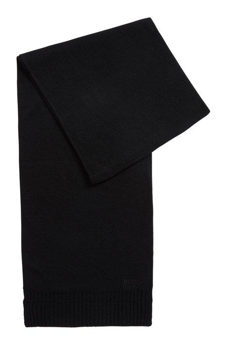 Bufanda en tonos a juego con un toque de cashmere, Negro