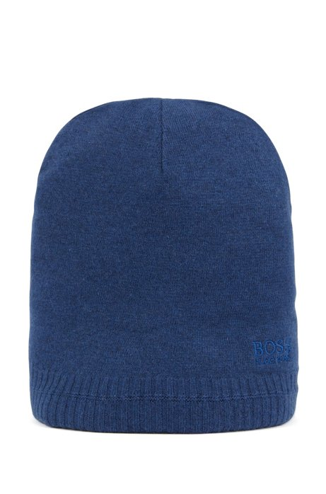 Beanie hat with tonal embroidered logo, Blue