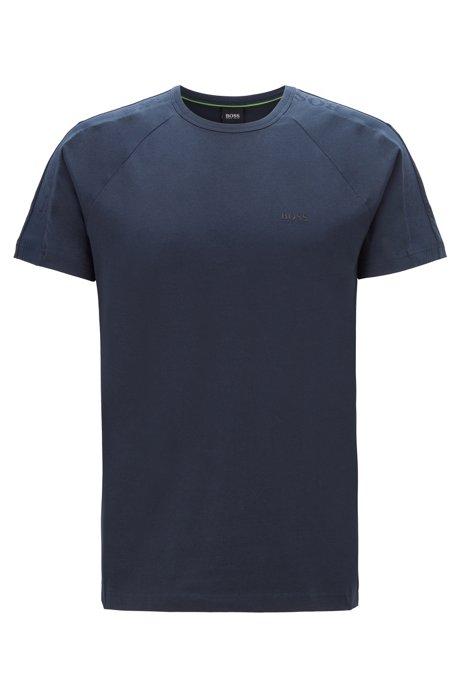 T-Shirt mit Logo-Tapes an den Ärmeln, Dunkelblau