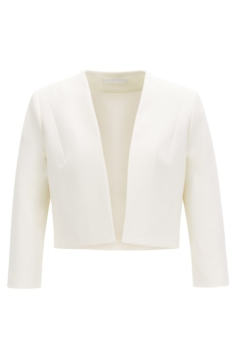 Regular-fit blazer van dubbellaags materiaal, Naturel