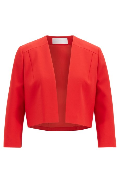 Veste Regular Fit en tissu double face, Rouge