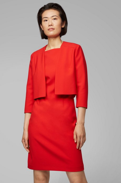 Regular-fit jacket in double-faced fabric, Red