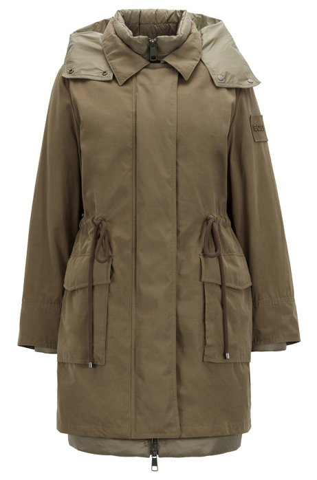 Two-in-one parka with detachable down jacket, Khaki