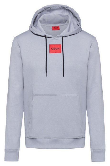 Kapuzen-Sweatshirt aus Interlock-Baumwolle, Grau