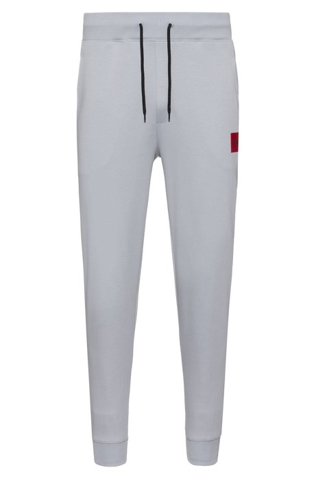 Regular-fit jogging trousers in pure cotton, Light Grey