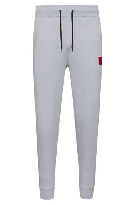 Regular-Fit Jogginghose aus reiner Baumwolle, Hellgrau