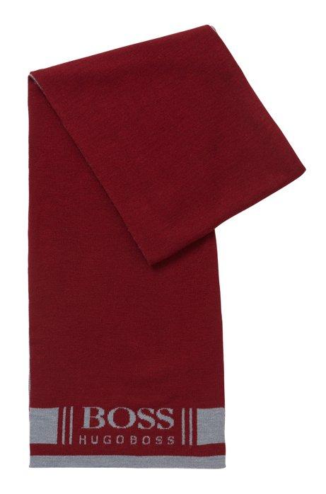 Softer Schal mit Jacquard-Logo, Dunkelrosa