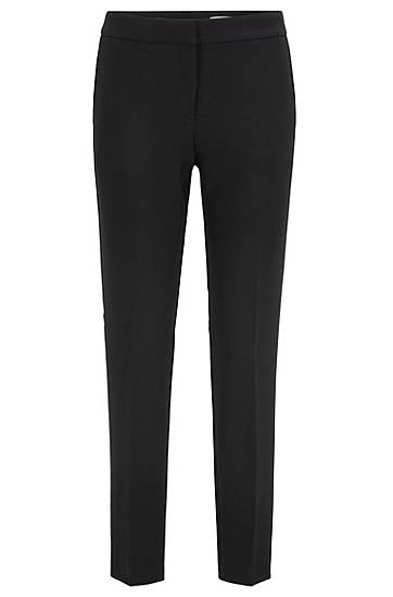 Boss Regular-fit trousers with a tapered leg