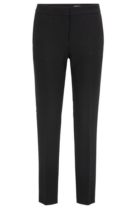 Pantaloni regular fit con gamba affusolata, Nero