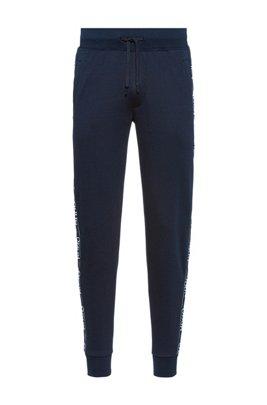 Regular-fit joggingbroek met logobies, Donkerblauw