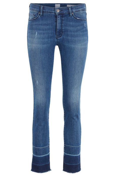 Skinny-Fit Jeans aus Stretch-Denim, Blau