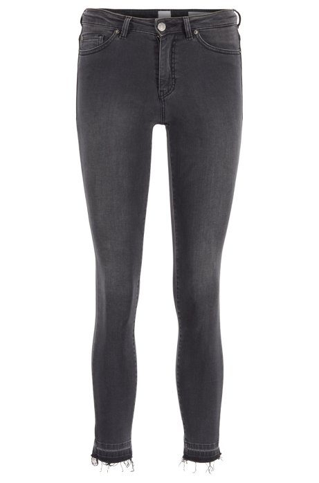 Jean Skinny Fit en denim power-stretch gris, Gris sombre