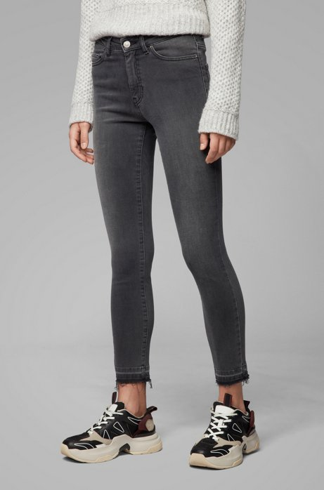 Skinny-fit jeans in grey power-stretch denim, Dark Grey