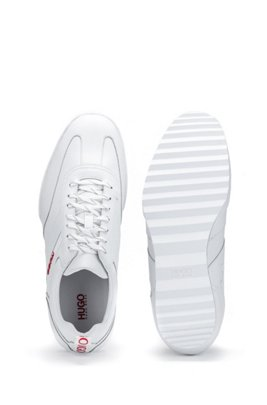 Low-top trainers in nappa leather, White