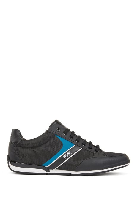 Low-top trainers with bamboo-charcoal lining, Black