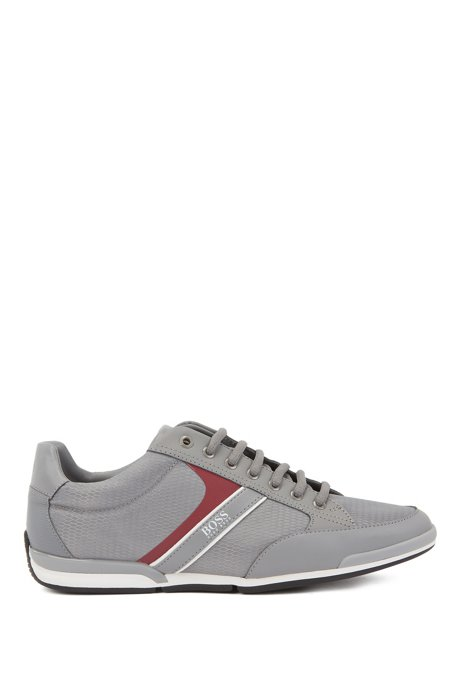 Low-top trainers with bamboo-charcoal lining, Grey