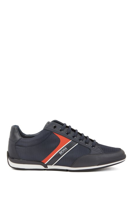 Low-top trainers with bamboo-charcoal lining, Dark Blue