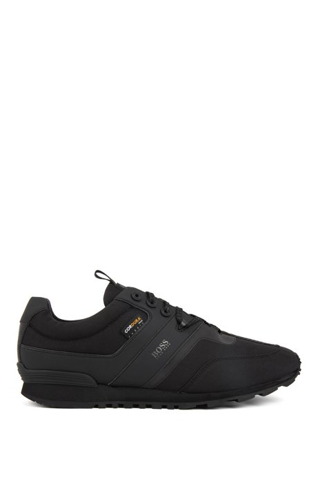Hybrid low-top trainers with Cordura® fabric, Black