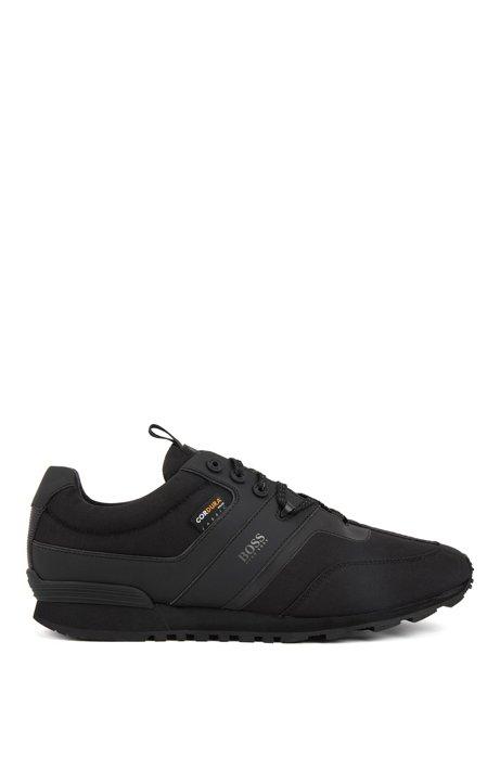 Lage hybride sneakers met Cordura®-materiaal, Zwart