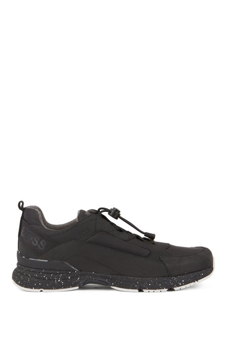 Chunky trainers with hybrid uppers, Black