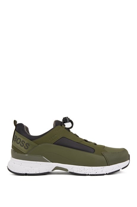Chunky trainers with hybrid uppers, Dark Green