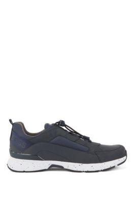 Robuuste sneakers met hybride bovenzijde, Donkerblauw