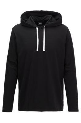 Haut de pyjama Regular Fit à logo thermocollé, Noir