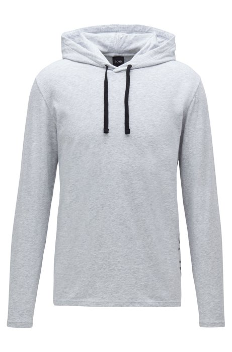 Haut de pyjama Regular Fit à logo thermocollé, Gris