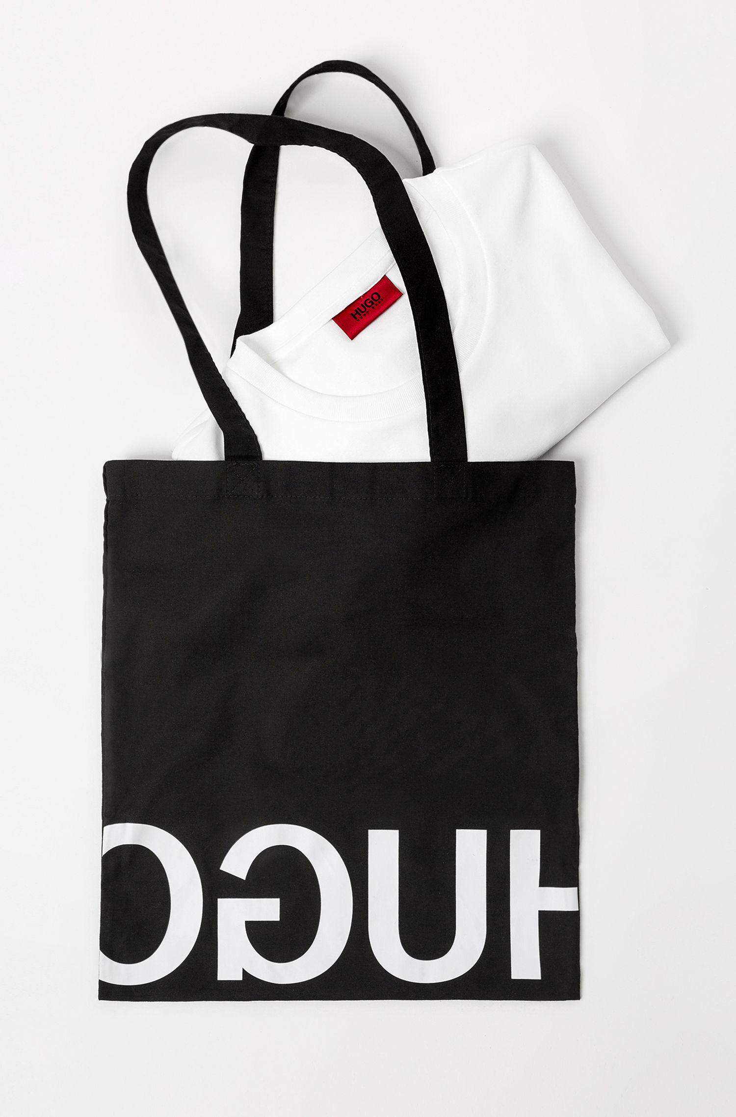 Unisex cotton sweatshirt with reversed personalisation, White