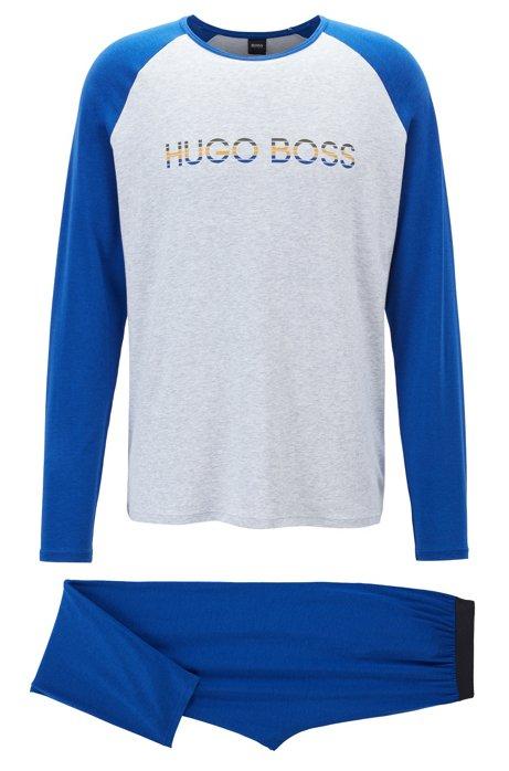 Pigiama in jersey elasticizzato con bambù in confezione regalo, Blu