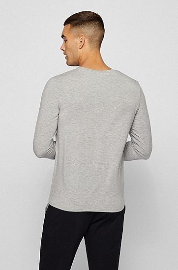 弹力莫代尔圆领睡衣,  033_Medium Grey