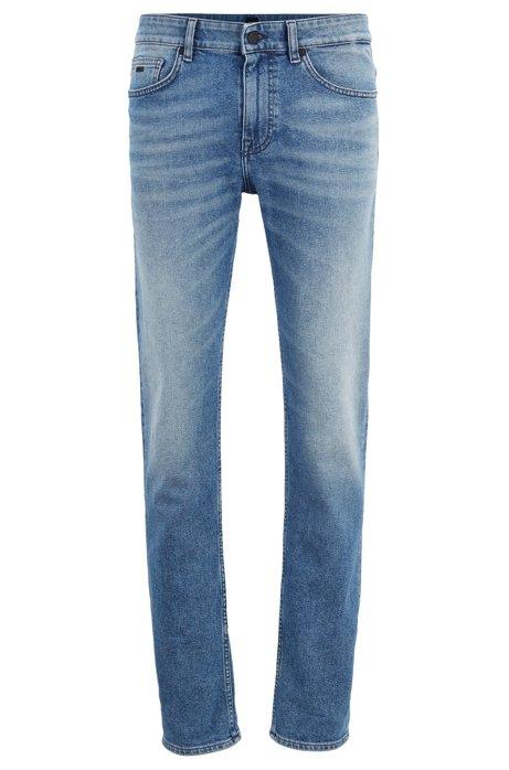 Slim-Fit Jeans aus meliertem komfortablem Stretch-Denim, Blau