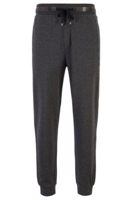 Pantalon d'intérieur en molleton avec cordon de serrage, Gris